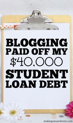 I was able to pay off my $40,000 student loan debt mainly by blogging. If you are interested in paying off student loans, check this blog post out! #Blogging #GettingOutOfDebt #StudentLoans