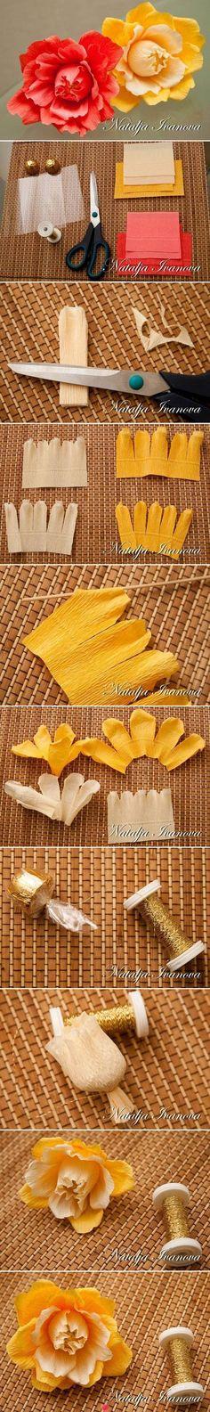 paper crepe flower