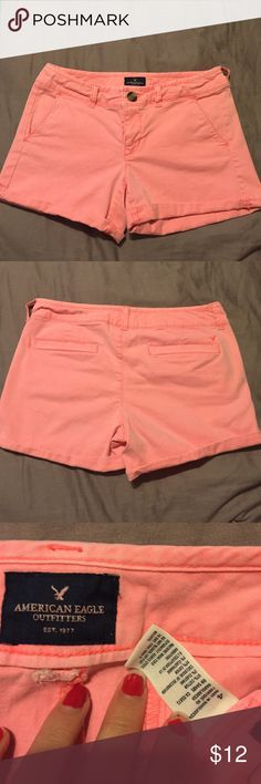 Pink AE shorts Size 4 pink khaki shorts from American eagle. American Eagle Outfitters Shorts