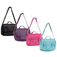 Insulated Lunch Bag Satchel. Keep your lunch cool with these cute insulated lunch bags. 4 colours available. Designs available: Blue, Purple, Pink, Black