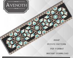 Peyote bracelet pattern peyote pattern por AvenothBeadPatterns
