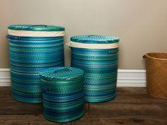 Gorgeous Blue/Green Baskets.