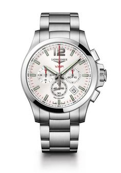 Longines Conquest VHP chronograph white dial - front