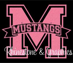 Split Alpha Banner M with Mustangs Instant Donload EPS SVG DXF cutting files by RhinestoneandGraphic on Etsy