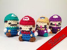 PDF Pattern for Crocheted Super Mario Luigi Wario por LouiesLoops
