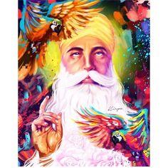 Guru Nanak Photo, Guru Nanak Ji, Nanak Dev Ji, Guru Nanak Teachings, Guru Nanak Wallpaper, Guru Pics, Acrilic Paintings, Shiva Lord Wallpapers, Cool Art Drawings