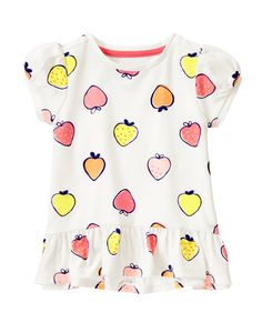 Fruity Print Peplum Tee at Gymboree Collection Name: Everyday Favorites (2015)