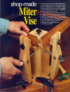 Shopmade Miter Vise - Clamp and Clamping Tips, Jigs and Fixtures | WoodArchivist.com