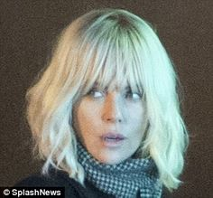 Neither here nor hair! Over the past week, Charlize has donned a series of wigs over her naturally honey coloured locks in order to play Special Agent Lorraine Broughton in the Cold War thriller Blonde Haircuts, Hairstyles With Bangs, Bob 1, Special Agent, Wavy Bobs, Honey Colour, Charlize Theron, Cold War, Beautiful Actresses
