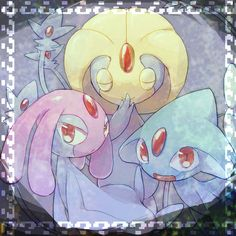Mesprit, Uxie, and Azelf