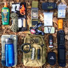 Fight or Flight Tactical Sling Bag with some of my EDC. Load out at park after a family boat ride.