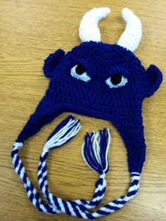 Baby Blue Devil Duke Crochet Hat for by HookLineandStinkers