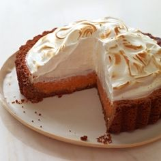 A classic Southern dessert piled high with a light and fluffy meringue. Think sweet potato pie, with a more exciting name!
