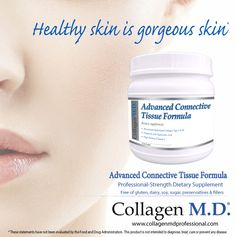 Collagen M.D.® support for healthy skin from within with Advanced Connective Tissue Formula.* A professional-strength dietary supplement powder that is neutral in taste and unflavored so it can be added to any combination of fresh berries for a delicious, nutrient-dense drink to support the natural mechanisms of the body that promote skin and connective tissue health.* Manufactured in California under strict cGMP guidelines and free of gluten, dairy, soy, sugar, fillers and preservatives…