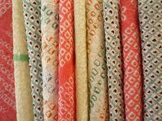 Shibori Kimono Fabric Japanese Silk Vintage Scrap by tomoandedie, $9.98