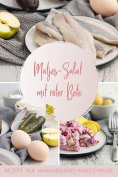 Schnell, einfach und gut: Matjes-Salat ohne Mayonnaise ist ein gesundes Abendessen perfekt im Sommer, wenn die Küche kalt bleiben soll. Der Salat mit Fisch, den man sonst fertig im Supermarkt kauft, schmeckt selbstgemacht so viel besser: Mehr oder weniger Zwiebel, mehr oder weniger Apfel? Du hast es mit diesem Rezept selbst in der Hand.