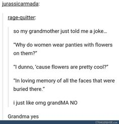 Grandma knows how to party - Funny tumblr post