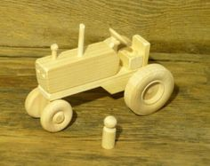 Handmade Wooden Toys Farm Tractor and Plow Wooden Toys by OutOnALimbADK | Etsy