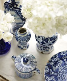 My grandmother has cabinets full of this blue and white china that will be mine someday.