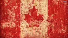 Grunge Canadian Flag wallpaper free