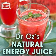 Dr Oz Red Juice Recipe (energy juice)