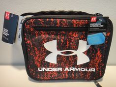 be7f88f384 Under Armour Thermos insulated Lunch Box Color Red Black #Underarmour #LunchBox  Under Armour Backpack