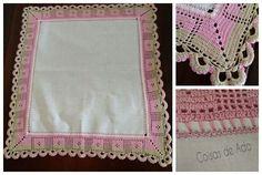 Coisas de Ada: Toalha de mesa com barrado em crochê, By Ada