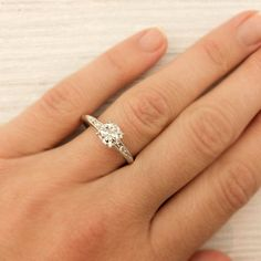 .74 Carat Old European Cut Diamond Engagement Ring | New York Vintage & Antique Estate Jewelry – Erstwhile Jewelry Co NY
