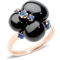 Pomellato Ring Capri (28.025 ARS) ❤ liked on Polyvore featuring jewelry, rings, black, pomellato, pomellato jewelry, round ring and pomellato rings