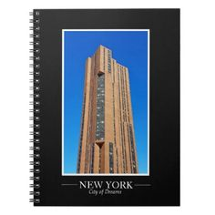 New York Skyline Photograph Frame Personalize Notebook - black and white gifts unique special b&w style