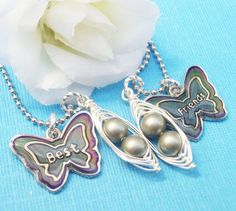 Set Of Two Best Friends Color Changing Butterfly by Kikiburrabeads, $18.50