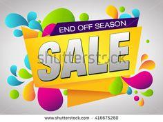 Sale End Off Season Banner. - stock vector