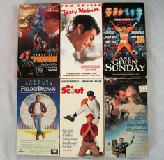 VHS Sports Movies Field of Dreams Jerry MaGuire The Scout and more Lot of 6 Between The Lions, Walt Disney Cartoons, Jerry Maguire, Billy Madison, Movies For Sale, Rosie Odonnell, Albert Brooks, Brendan Fraser, Grumpy Old Men