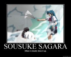 Full metal panic. When in doubt, blow it up.