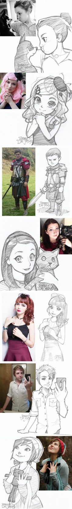 People and their cartoon versions Part 3