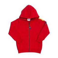 Kite rode hoodie #biologische #eerlijke #kinderkleding verkrijgbaar op www.ekodepeko.nl