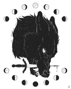 Drawings Moon Wolf - Print · Dappermouth · Online Store Powered by Storenvy - You were the bright full moon, and I became something else around you. Art print on enhanced matte paper Art Inspo, Fenrir Tattoo, Werewolf Tattoo, Animal Drawings, Art Drawings, Wolf Drawings, Art Noir, Wolf Illustration, Arte Obscura