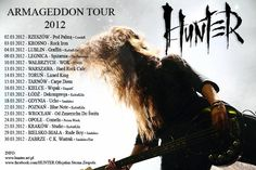 Hunter - Armageddon Tour 2012 /march 2012  www.hunter.art.pl  About tour http://wp.me/p2echd-1y