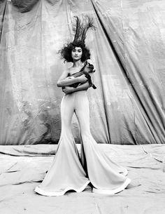 Shanina Shaik by Kristian Schuller for Vogue India. Makeup by Yasuo Yoshikawa.
