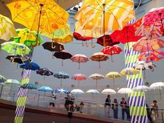 This beautiful umbrella exhibit will have you wishing for raining days