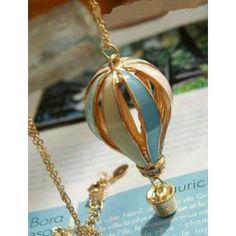 Beautiful Balloon Alloy Pendant Necklaces