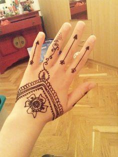 Simple Henna on my Hand Simple Henna, Hand Henna, Hand Tattoos, Hands