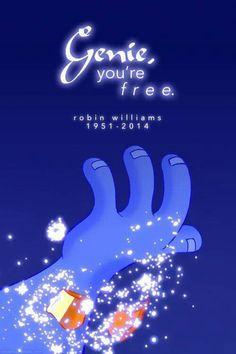 Genie voiced by Robin Williams. Robin Williams will be missed by all. Walt Disney, Disney Love, Disney Magic, Disney Art, Disney Stuff, Disney And Dreamworks, Disney Pixar, Disney Characters, Gale Hawthorne