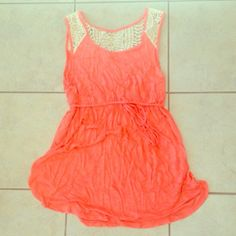 NWOT Coral & Crochet Beach Cover Up Got as a gift. Never worn. It's a maternity brand (have no idea why) but it's really small. Size M but will fit S or XS. Liz Lange Swim Coverups