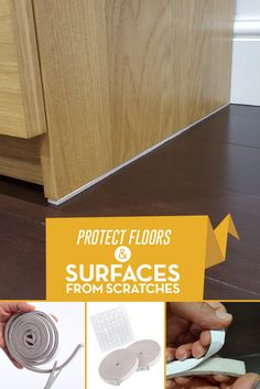 SIMALA Premium Furniture Pads - 2 x Heavy Duty Adhesive Self Stick Felt Strip Roll Protectors for Hard Surfaces & 64 Non Slip Noise Dampening Bumper Pads Rubber. Save your Surfaces from Scratches Save Yourself, Adhesive, Floors, Surface, Rolls, Felt, Furniture, Home Tiles, Flats