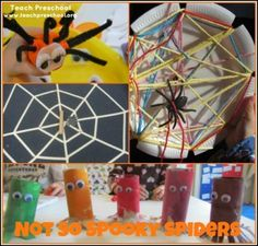 Not so spooky spiders from Teach Preschool