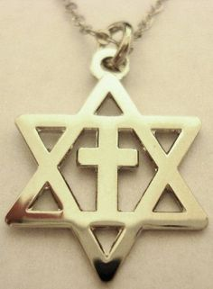 Messianic Star of David Jews for Jesus Christians for Isreal Cross Pendant…