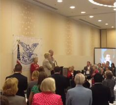 Singing the National Anthem at Eagle Forum Council 2013. 9-13-13