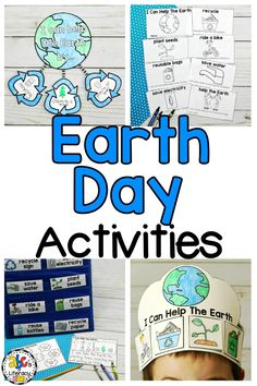 Celebrate Earth Day this year with these fun, creative activities that will get your students to think, write, and read about how they can help the Earth. This Earth Day packet includes a craft, writing prompt, printable book, crown, and more. Preschoolers, Kindergartners, 1st Graders and 2nd Graders will love creating these projects and you'll like how easy these activities are to add to your lesson plans. Click on the picture to learn more about these Earth Day Activities! #earthdayactivities