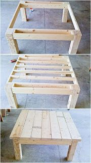 Square Coffee Table Made From Pallets